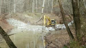 Weir Construction Cache